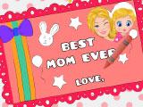 Барби делает открытку для мамы