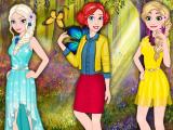 Принцессы Диснея весной
