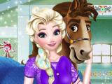 Эльза и соревнование верховой езды