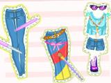 Украшаем джинсы с Барби