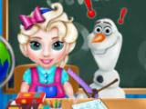 Маленькая Эльза в школе
