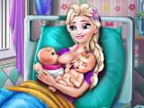 Эльза родила двойняшек