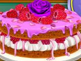 Малиновый бисквит с розовой водой