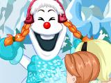 Анна и Эльза создают снеговика