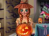 Эльза и Анна примеряют страшные костюмы