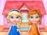 Игра Кукольный домик Анны и Эльзы