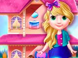 Игра Украшаем кукольный домик с принцессой