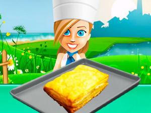 Игра Готовим сырные слойки